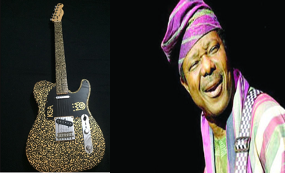 King Sunny Ade's Vintage Guitar Which was Sold on Sunday for N52.1m (Photos)
