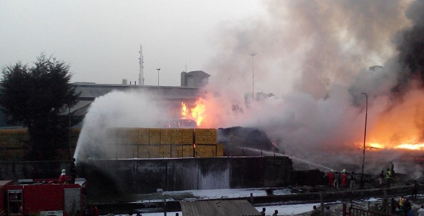 BREAKING: Nigerian Breweries Razed By Fire  on Christmas day (photos)