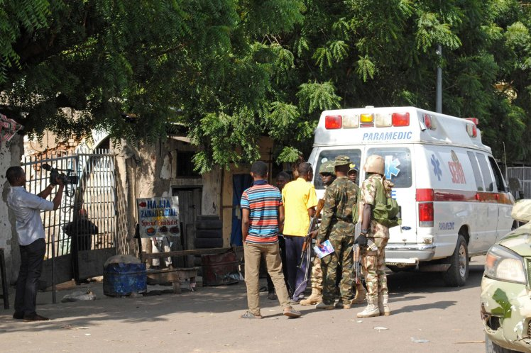 Breaking News:Two girls, 7, carry out suicide bomb attack in busy market in Nigeria