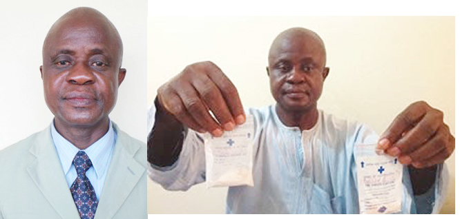 Prof-Ezeibe-displaying-samples-of-AMS-inside-drug-sachets